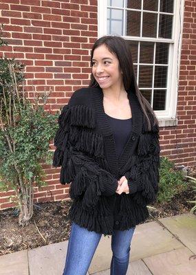 Mara Hoffman Fringe Sweater Size Small