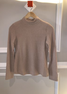 Taupe L/S Mock Neck