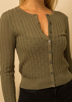 Gina Button Up Sweater