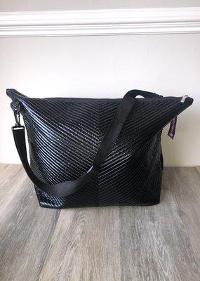 Black Chevron Weekender Bag