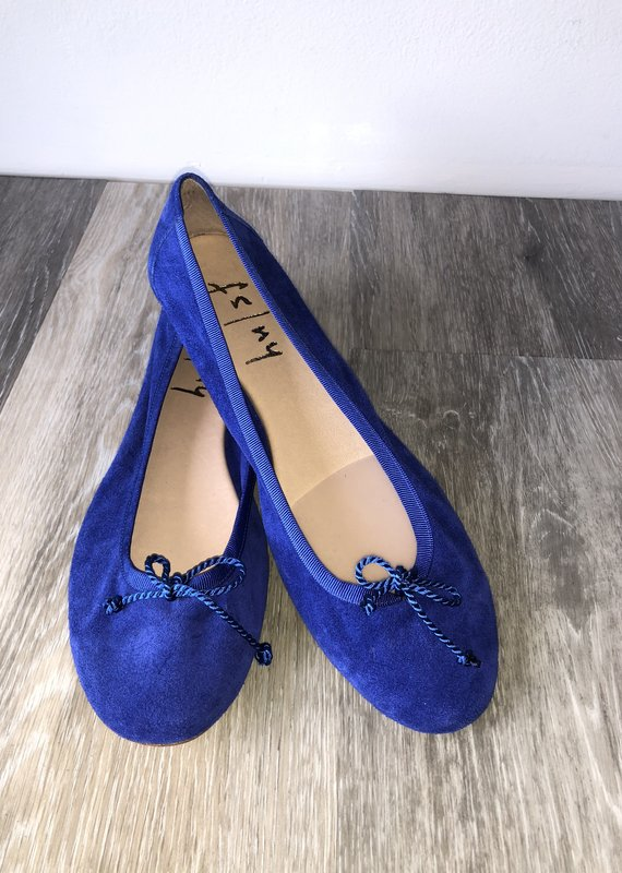New French Sole FS/NY Blue Suede Flat Size 7
