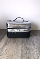 Metallic Puffer Cosmetic Bag