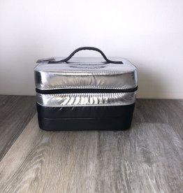 Metallic Puffer Cosmetic Bag