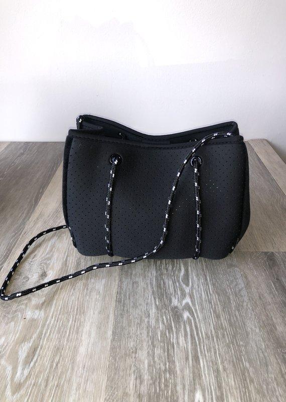 Ahdorned Mini Neoprene Bag with Black Velvet Sides