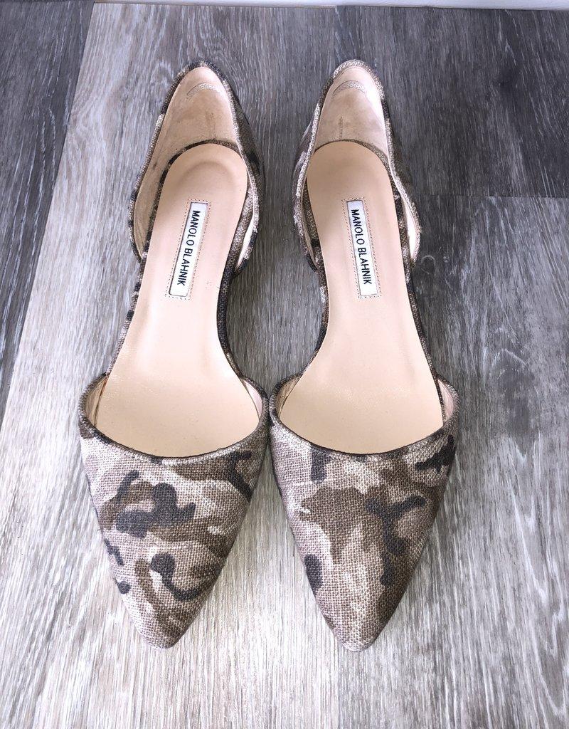 Manolo Blahnk Camo Flats Size 42