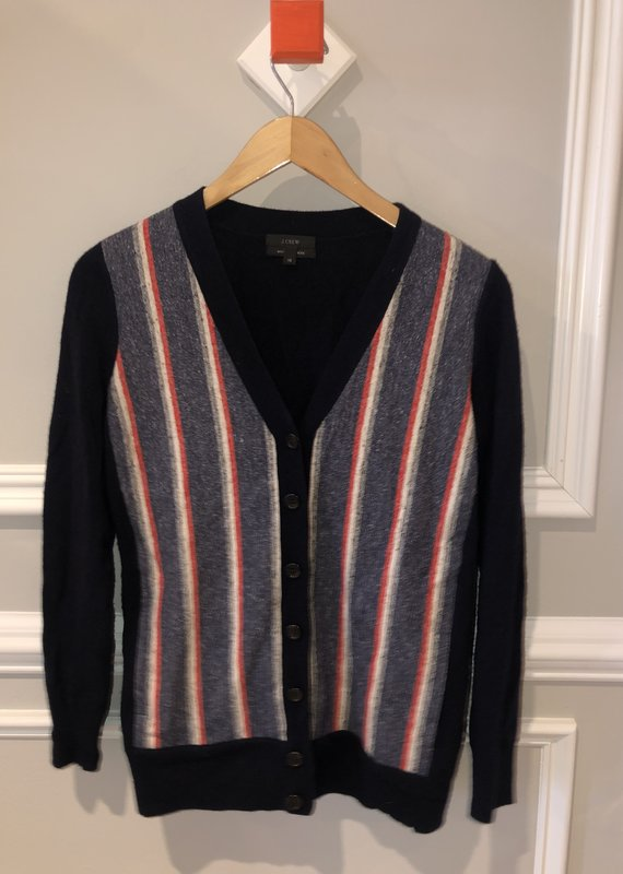 "JCrew ""Grandpa"" Cashmere Mix Sweater"