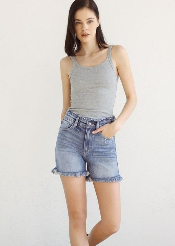 Cierra High Rise Frayed Shorts
