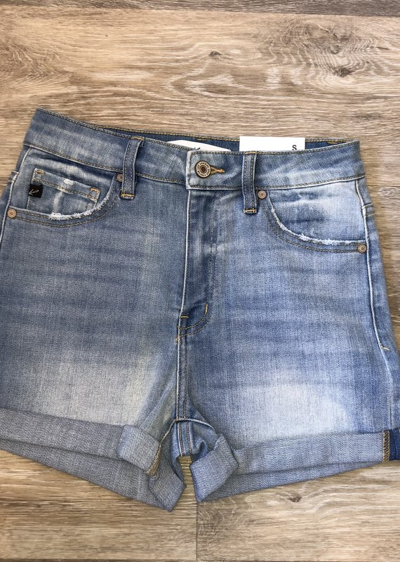 Light Denim High Rise Shorts