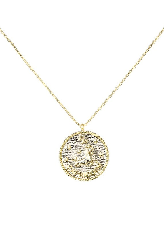 Gold Zodiac Pendant Necklace