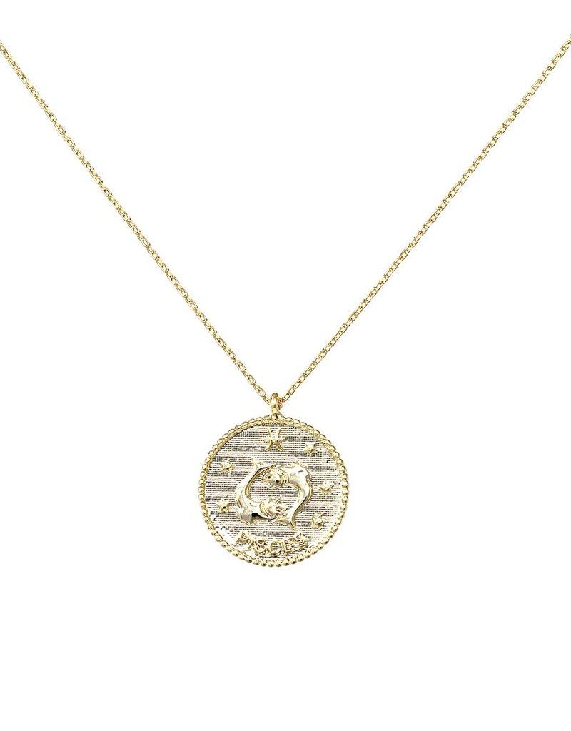 Gold Zodiac Pendant Necklace