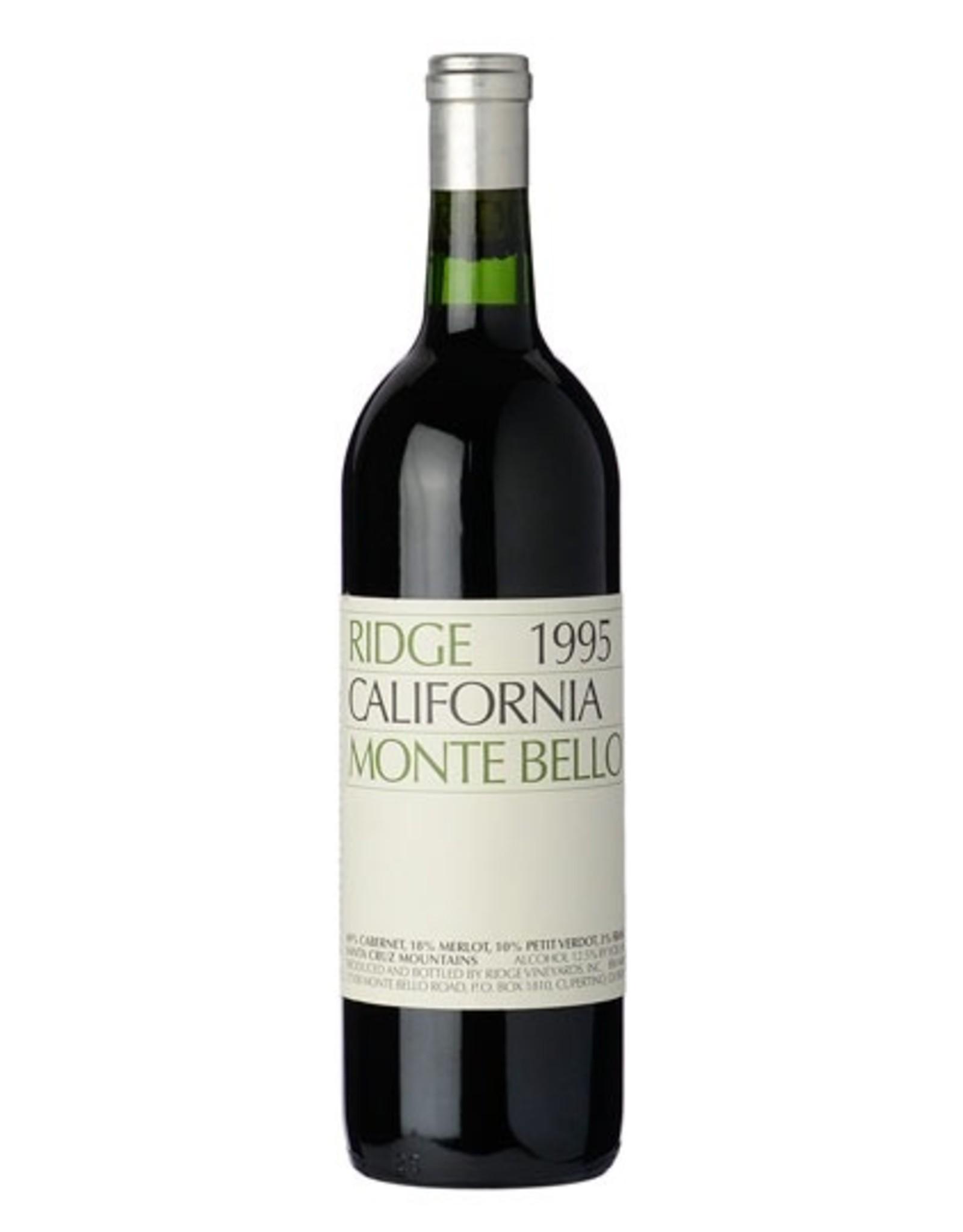 Red Wine 1995, Ridge Stanford Collector's Reserve Monte Bello Vineyards, Cabernet Sauvignon, Santa Cruz Mountains, San Francisco Bay, California, 14.4% Alc, CT , JS98