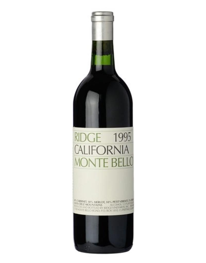 Red Wine 1995, Ridge Stanford Collector's Reserve Monte Bello Vineyards, Cabernet Sauvignon, Santa Cruz Mountains, San Francisco Bay, California, 14.4% Alc, CT , JS98