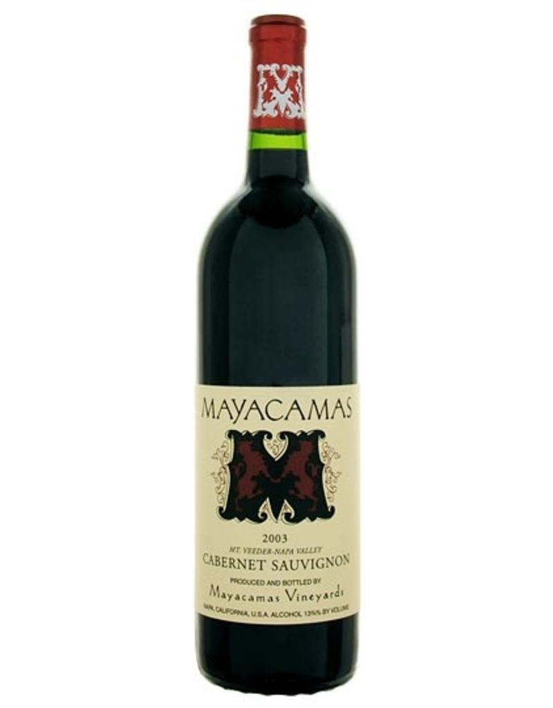 Red Wine 2003, Mayacamas, Cabernet Sauvignon, Mt. Veeder, Napa Valley, California,14.25% Alc, CT91.9 V97 JS95