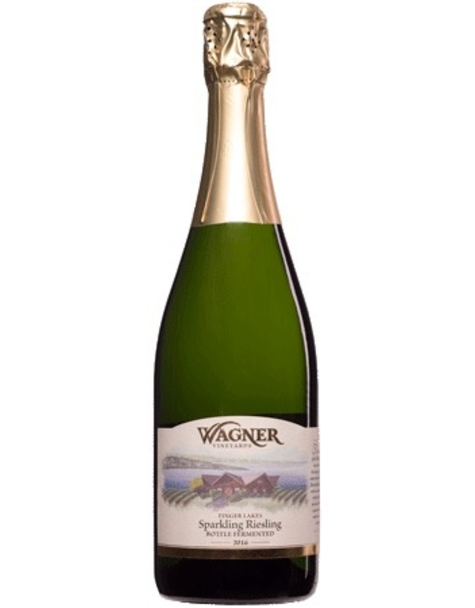 Red Wine 2016, Wagner, Sparkling Dry Rieseling, Seneca Lake, Finger Lakes, New York, 12.6% Alc, CT