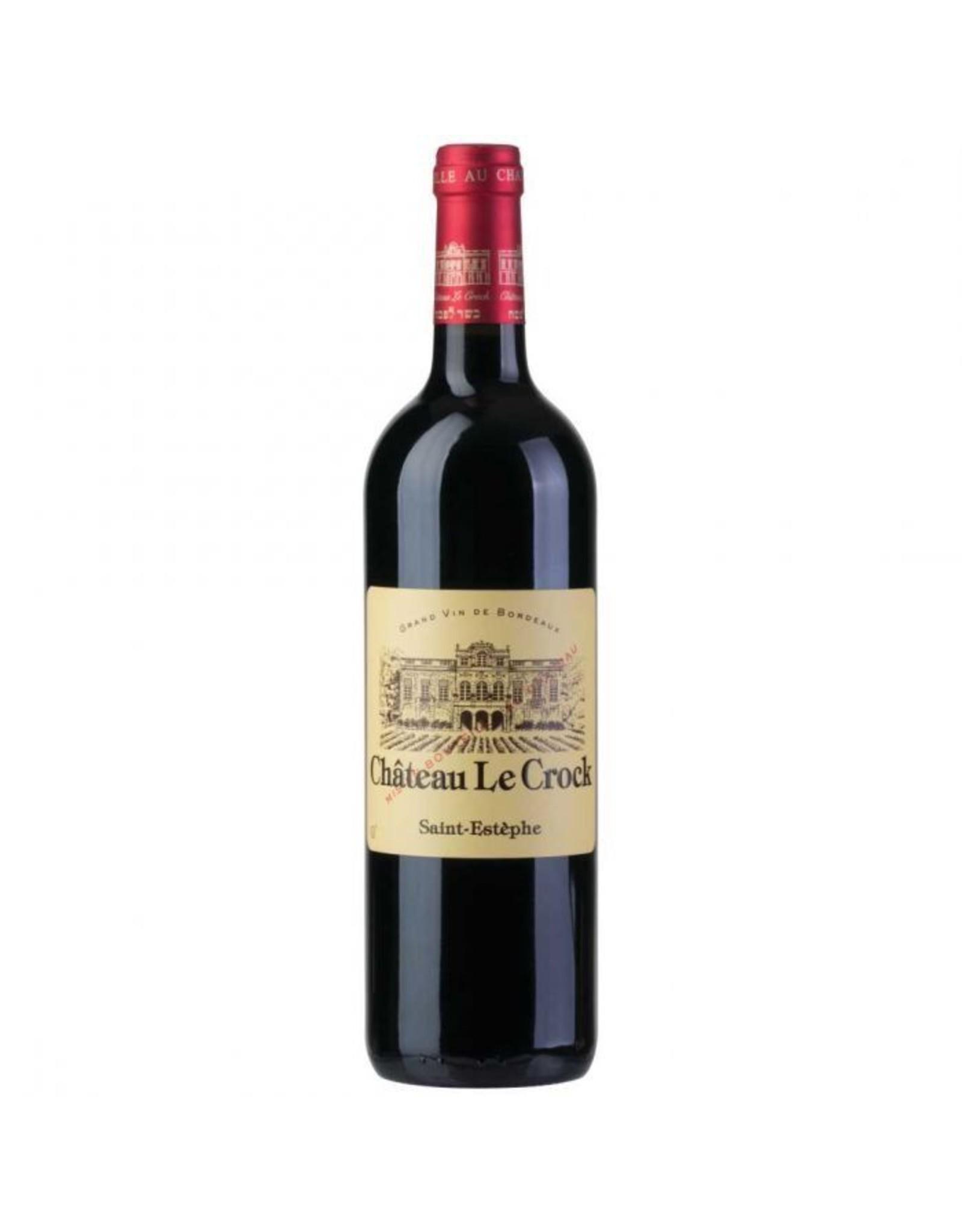 Red Wine 2016, Chateau LeCrock, Red Bordeaux Blend, Saint-Estephe, Bordeaux, France, 14% Alc, CT92