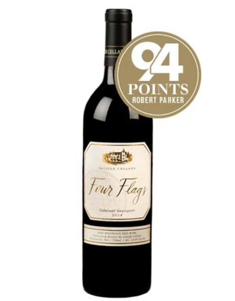 Red Wine 2016, De Lille Cellars Four Flags, Cabernet Sauvignon, Red Mountain Yakima Valley, Columbia Valley, Washington, 14.4% Alc, CT91.3 RP94 JS93