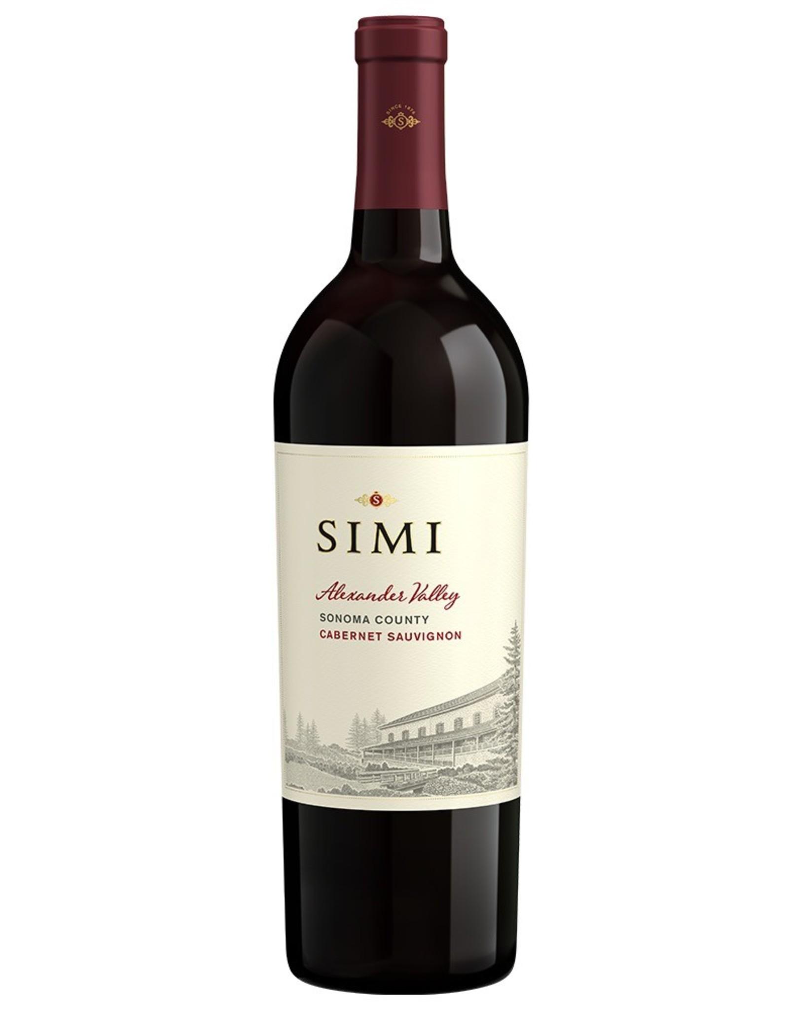 Red Wine 2015, Simi, Cabernet Sauvignon, Alexander Valley, Sonoma, California, 13.5% Alc, CT86.7