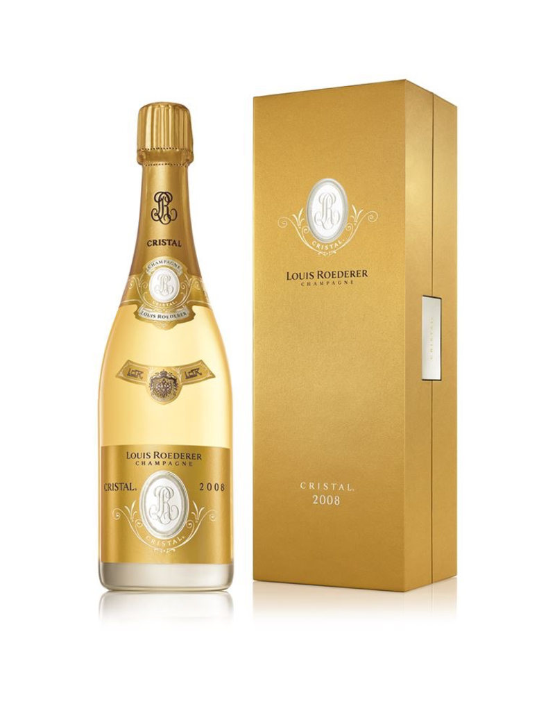 Sparkling Wine 2008, Louis Roederer Cristal Gift Box, Champagne, Reims, Champagne, France, 12% Alc, CT95.1 JS100 WE100 JD100