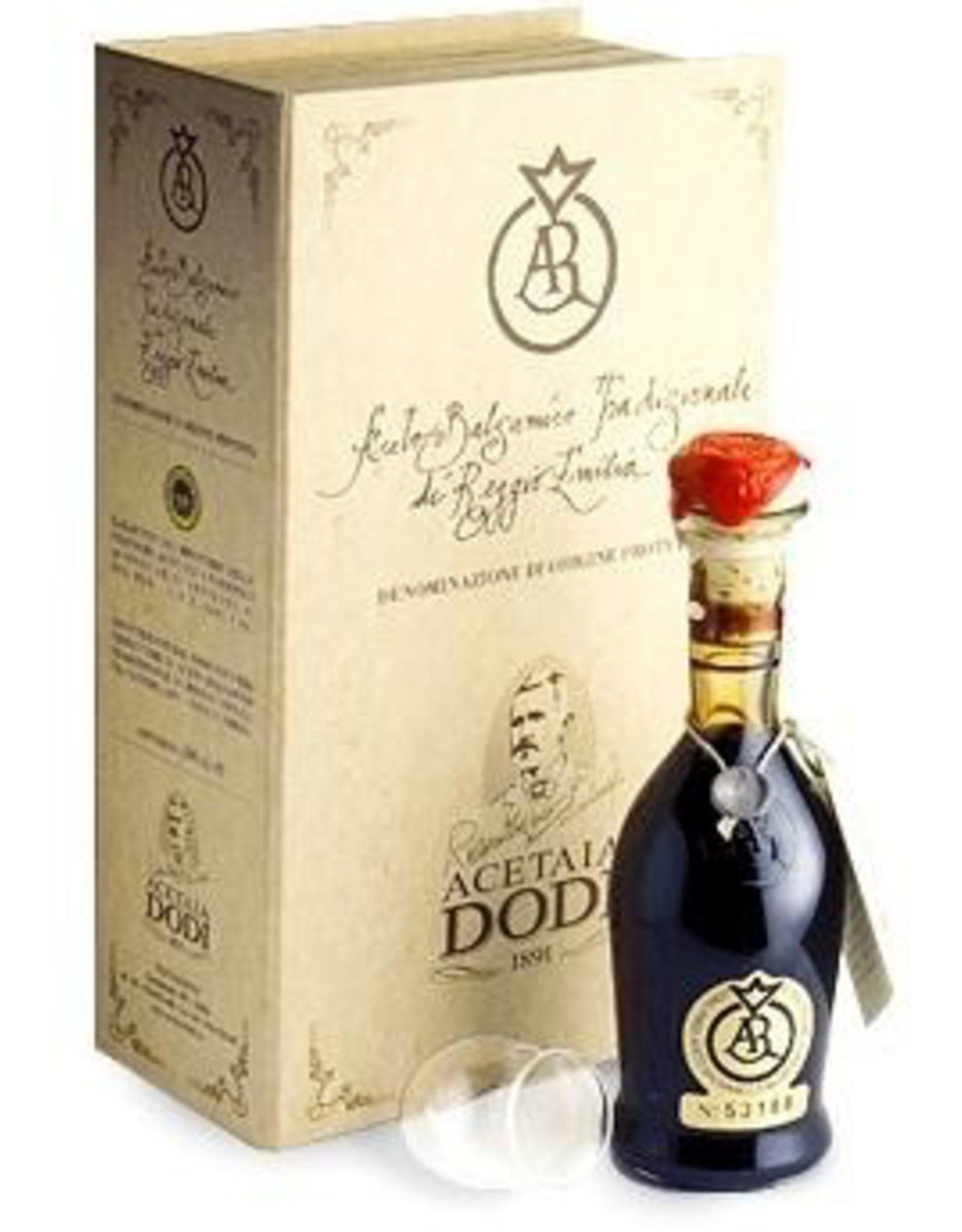 Specialty Foods Reggio Emilia, Acetaia Dodi Balsamic Vinegar Of Reggio Emilia, Crimson Seal Aragosta, Aged over 12 Years in Wood, Balsamic Vinegar, Modena, Italy, 100ml