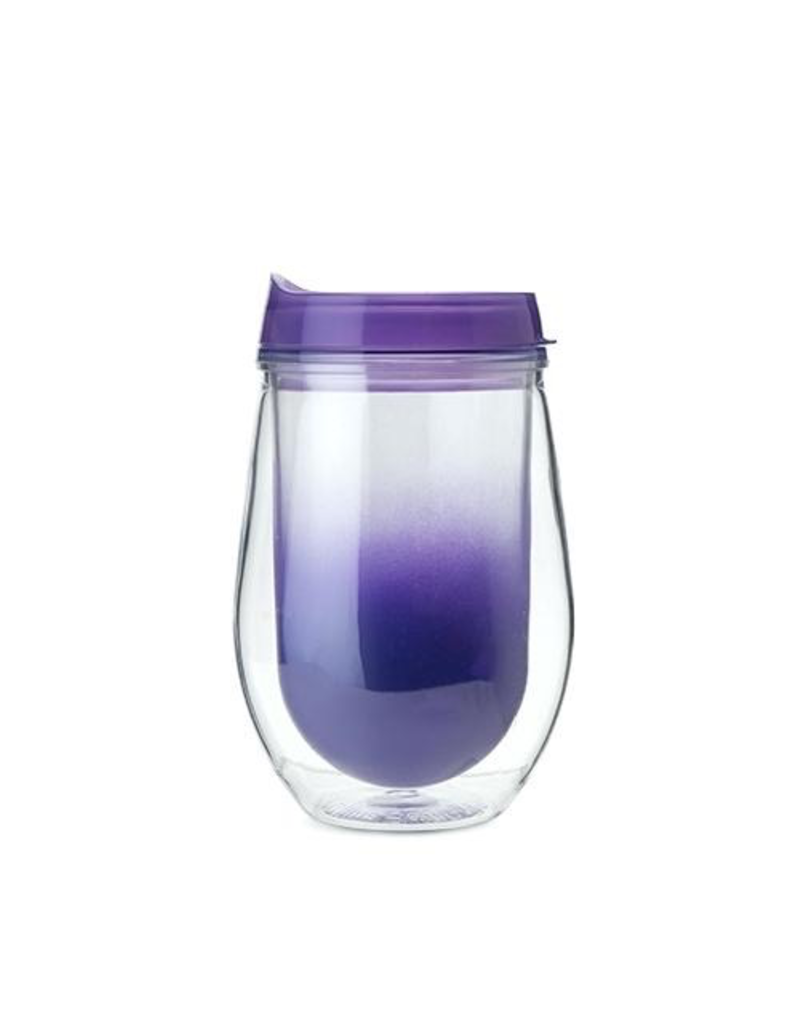 Specialty Product ONE (1) TRAVELER Wine Cup, Double Walled Insulated with No-Spill Lid (Assorted Colors)