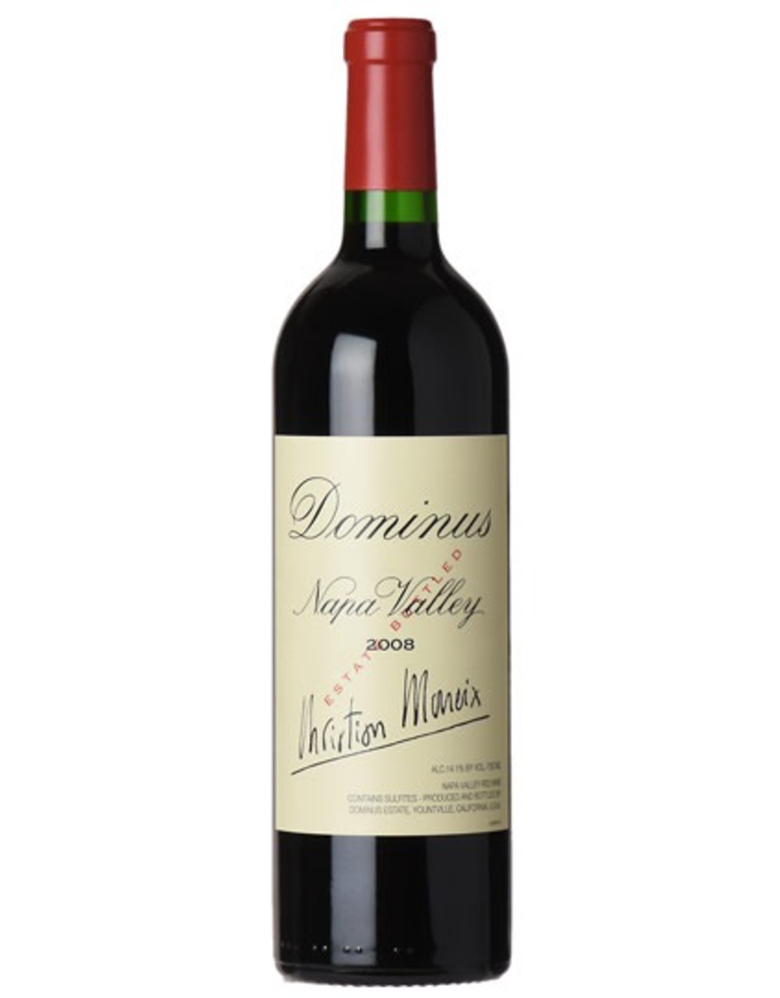 Red Wine 2008, Dominus Estate Christian Moueix, Red Bordeaux Blend, Yountville, Napa Valley, California, 14.1% Alc, CT94, RP 99