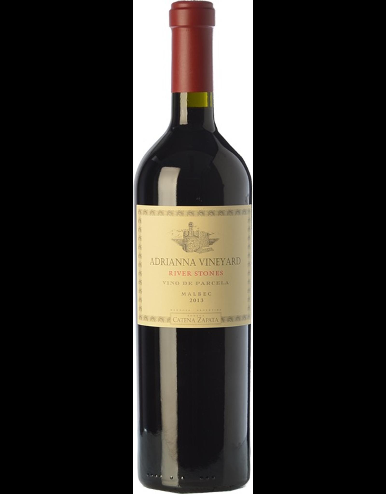 Red Wine 2015, Catena Zapata Adrianna Vineyard River Stones Parcel, Malbec, Lujan de Cuyo, Mendoza, Argentina, 14% Alc, CTnr JS96 RP95