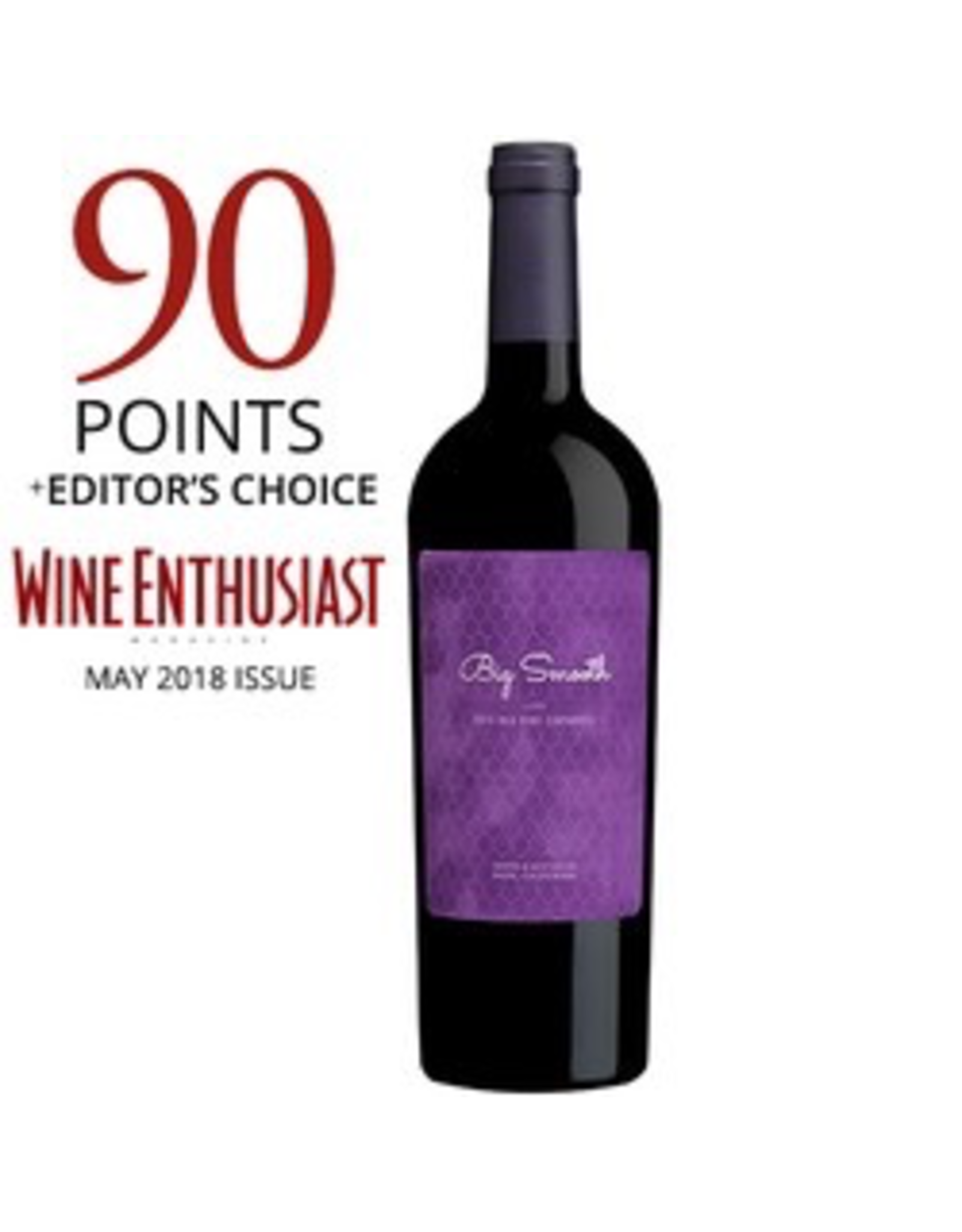 Red Wine 2016, Big Smooth by Sebastiani & Sons, Old Vine Zinfandel, Lodi, Central Valley, California, 15.0% Alc, CTnr
