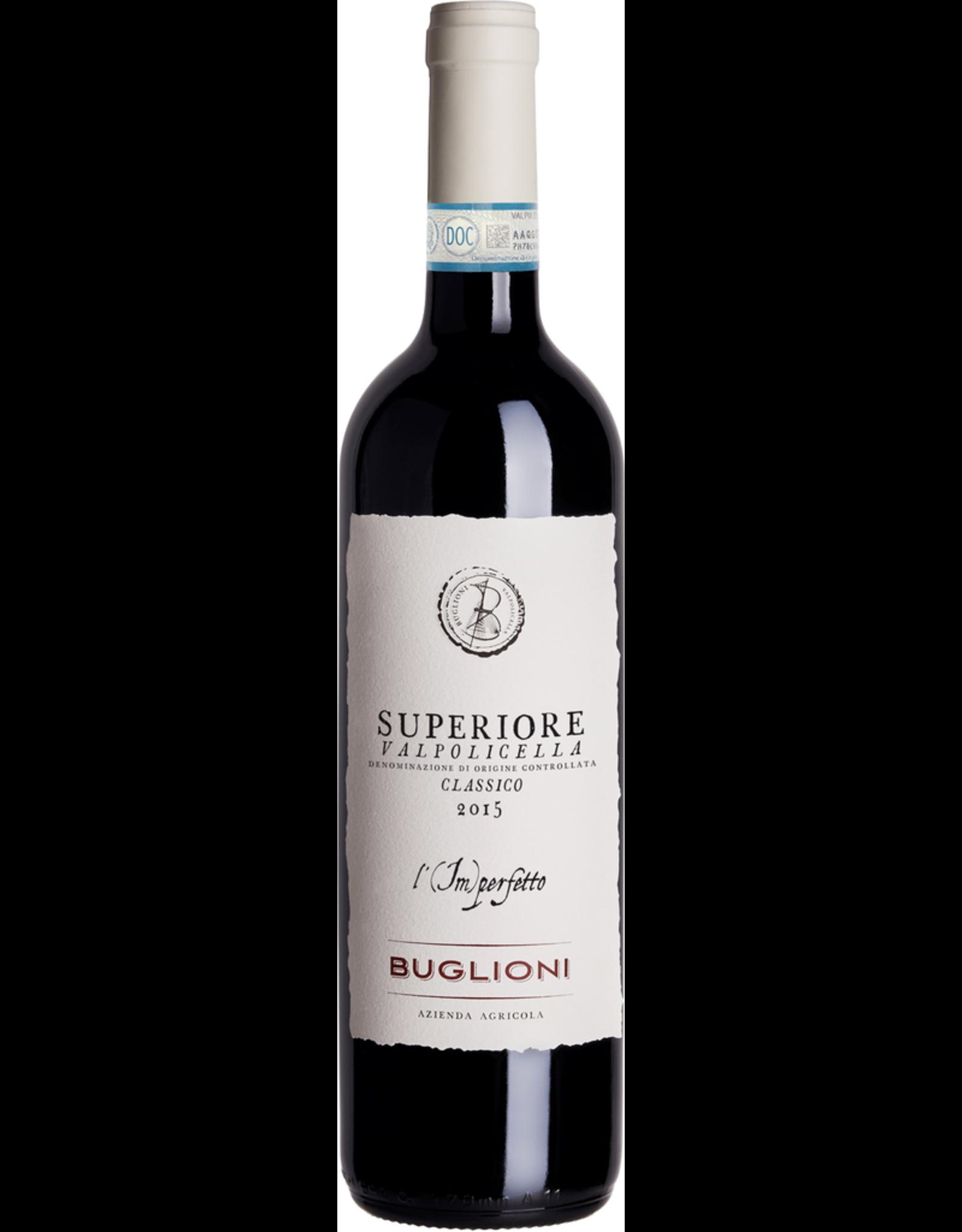 Red Wine 2015, Buglioni Valpolicella Classico Superiore DOC L'Imperfetto, Valpolicella, Veneto, Italy, 13.3% Alc, CTnr