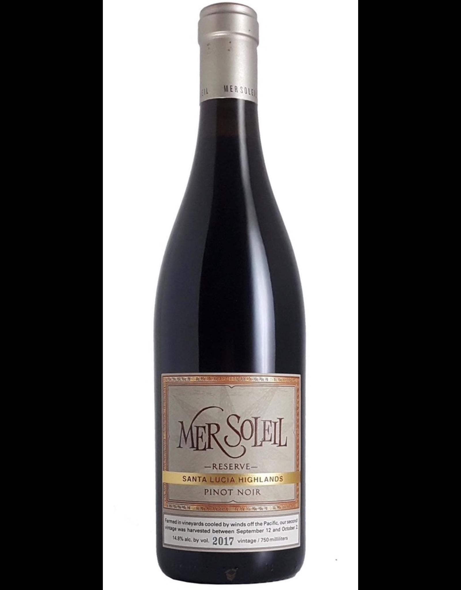 Red Wine 2017, Mer Soleil Reserve, Pinot Noir, Santa Lucia Highlands, Monterey County, California,14.8% Alc, CT90