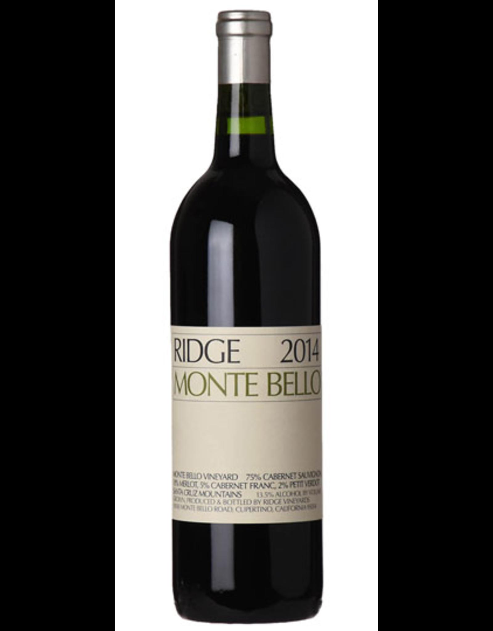 Red Wine 2014, Ridge Stanford Collector's Reserve Monte Bello Vineyards, Cabernet Sauvignon, Santa Cruz Mountains, San Francisco Bay, California, 14.4% Alc, CT , JS98