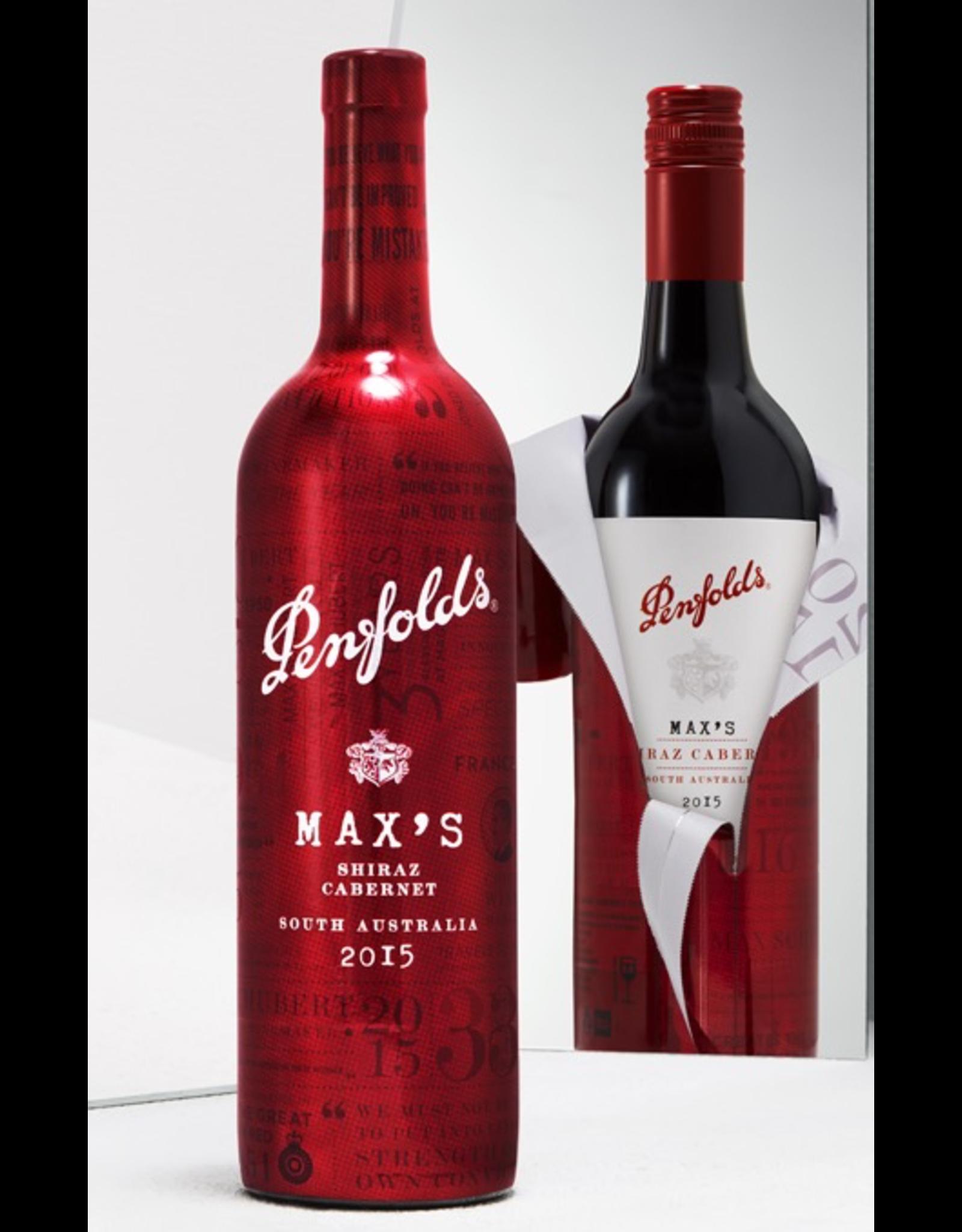 Red Wine 2016, Penfolds MAX's Blend, Red Shiraz Cabernet Blend Barossa Valley, South Australia, 14.5% Alc, CTnr, TW90