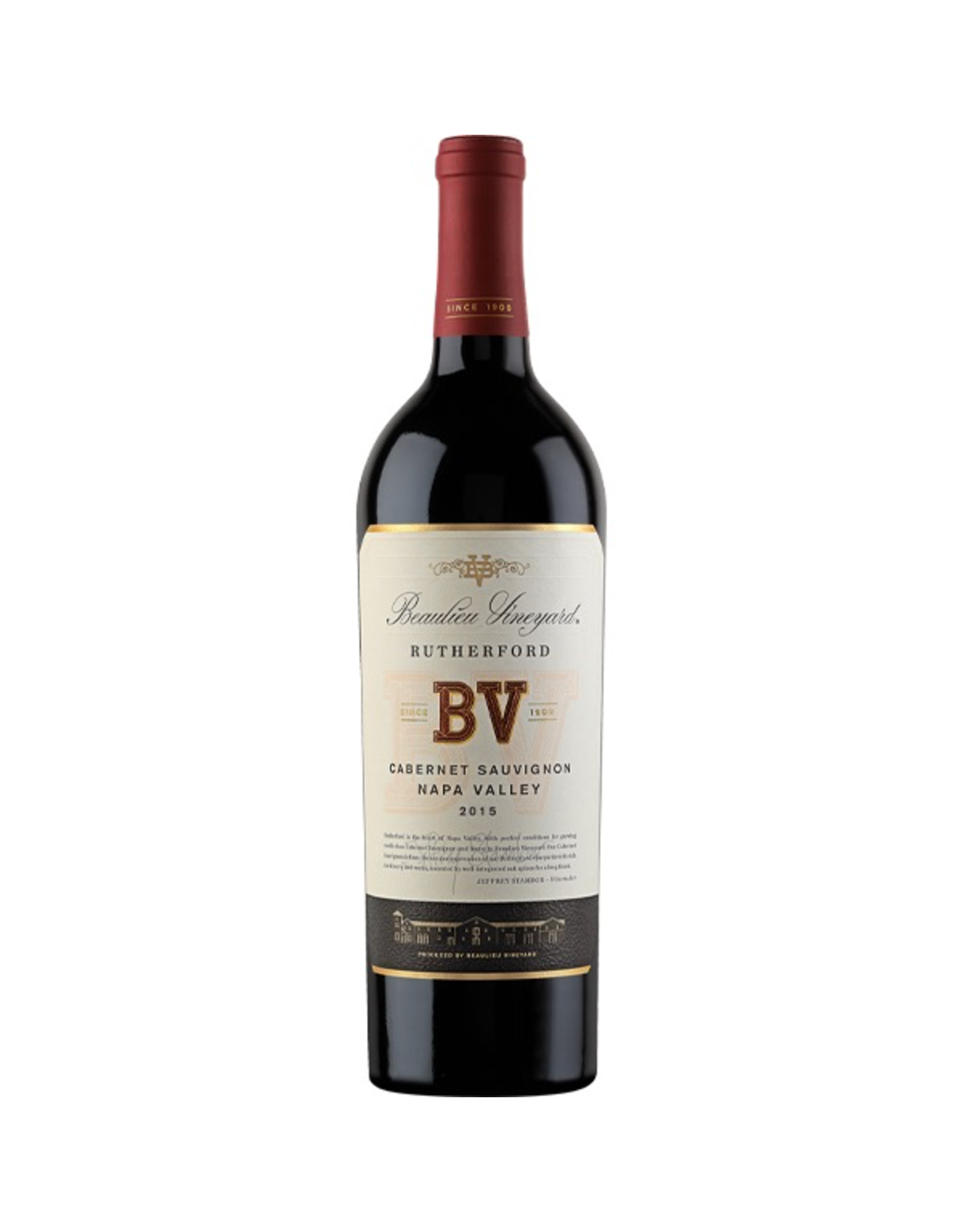 Red Wine 2015, BV Beaulieu Vineyards Rutherford, Cabernet Sauvignon, Rutherford, Napa Valley, California, 14.6% Alc, CTnr, TW92