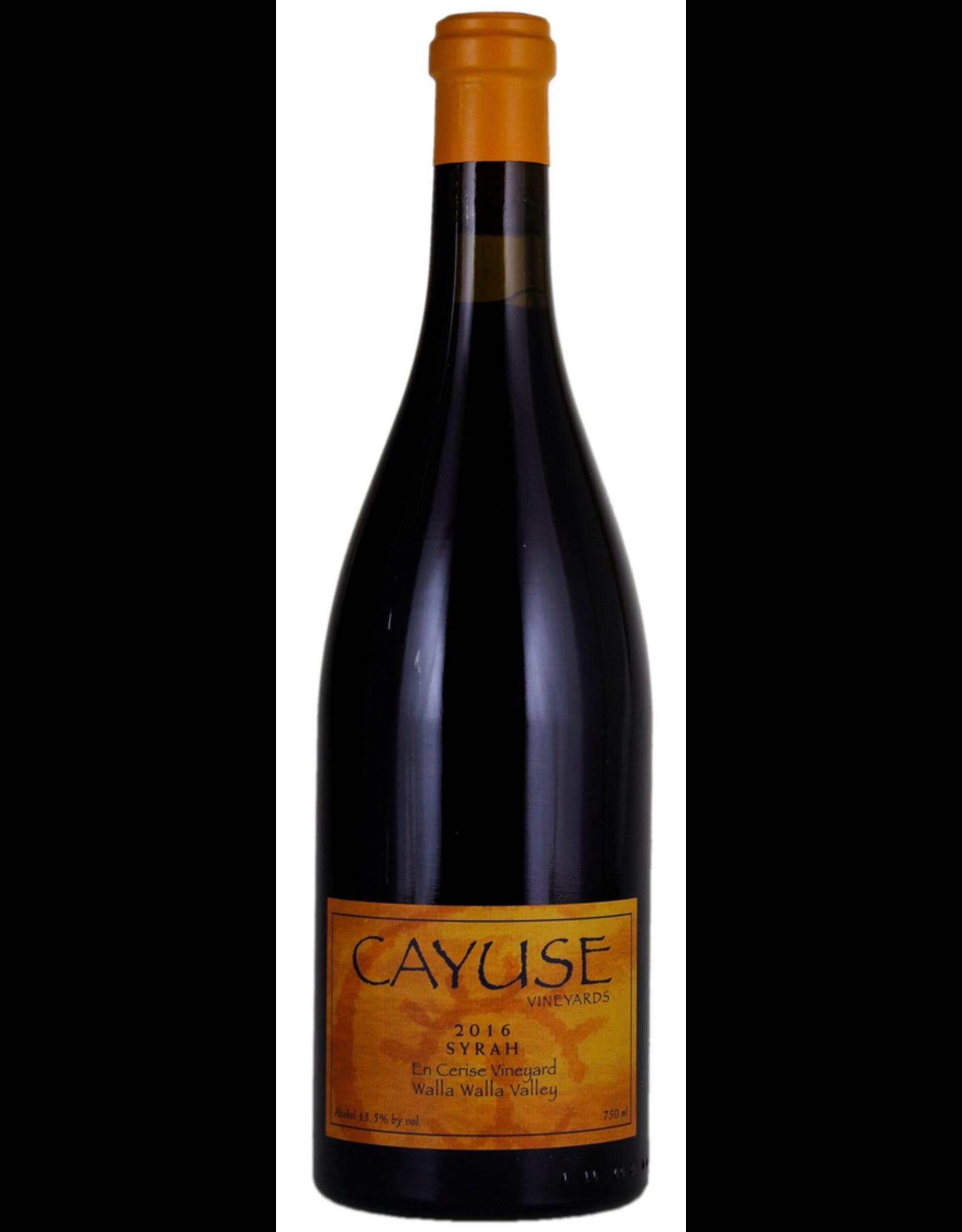 Red Wine 2016, Cayuse En Cerise Vineyard, Syrah, Walla Walla Valley, Columbia Valley, Washington, 13.5% Alc, CT95 JD99