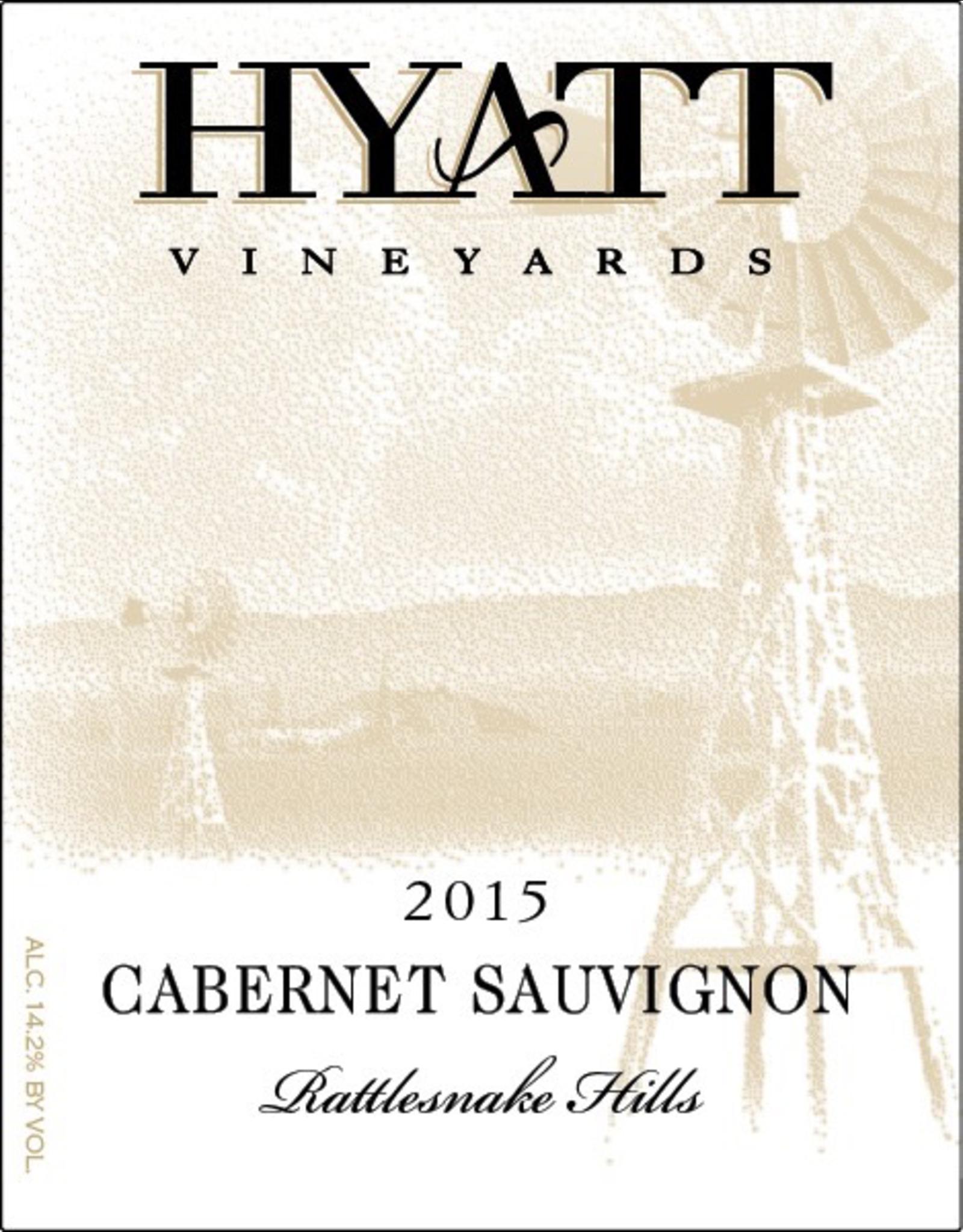 Red Wine 2015, Hyatt Vineyards Rattlesnake Hills, Cabernet Sauvignon, Yakima Valley, Columbia Valley, Washington, 14.2% Alc, CTnr, TW90
