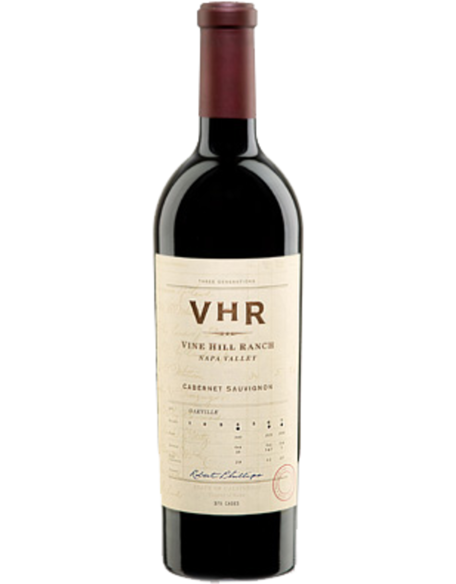 Red Wine 2013, VHR Vine Hill Ranch, Cabernet Sauvignon, Oakville, Napa Valley, California, 14.6% Alc, CT94, VN 98