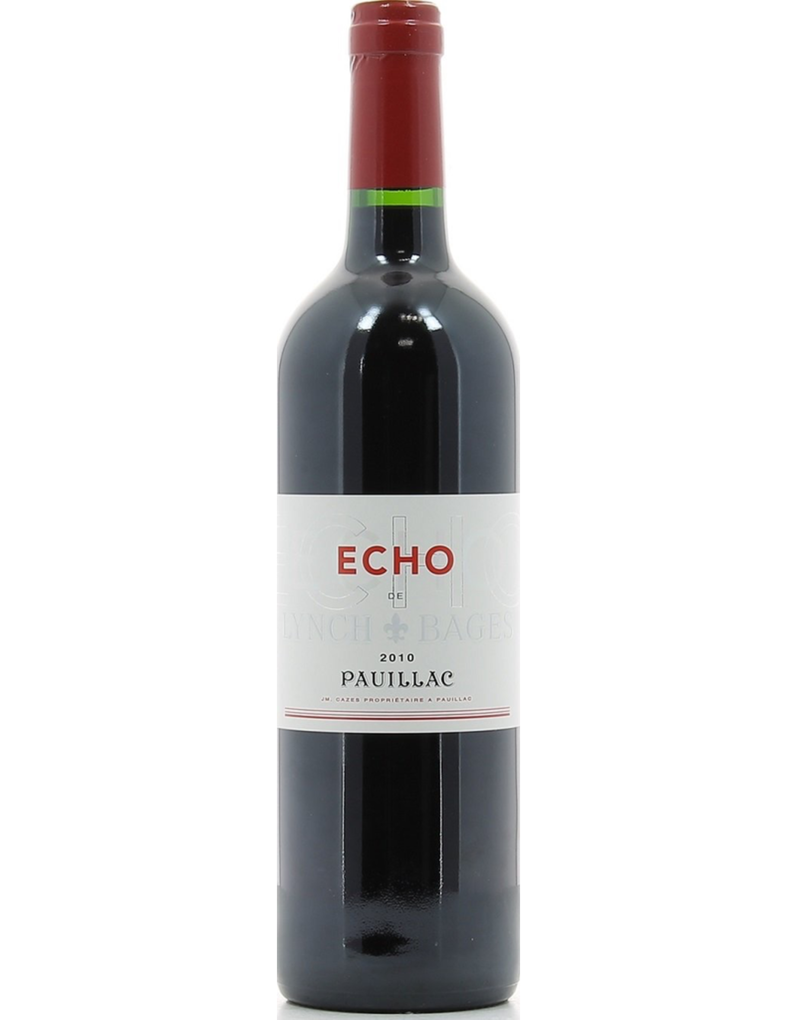 Red Wine 2010, Echo by Lynch Bages,Red Bordeaux Blend, Pauillac, Bordeaux, France, 13.5% Alc, CT89
