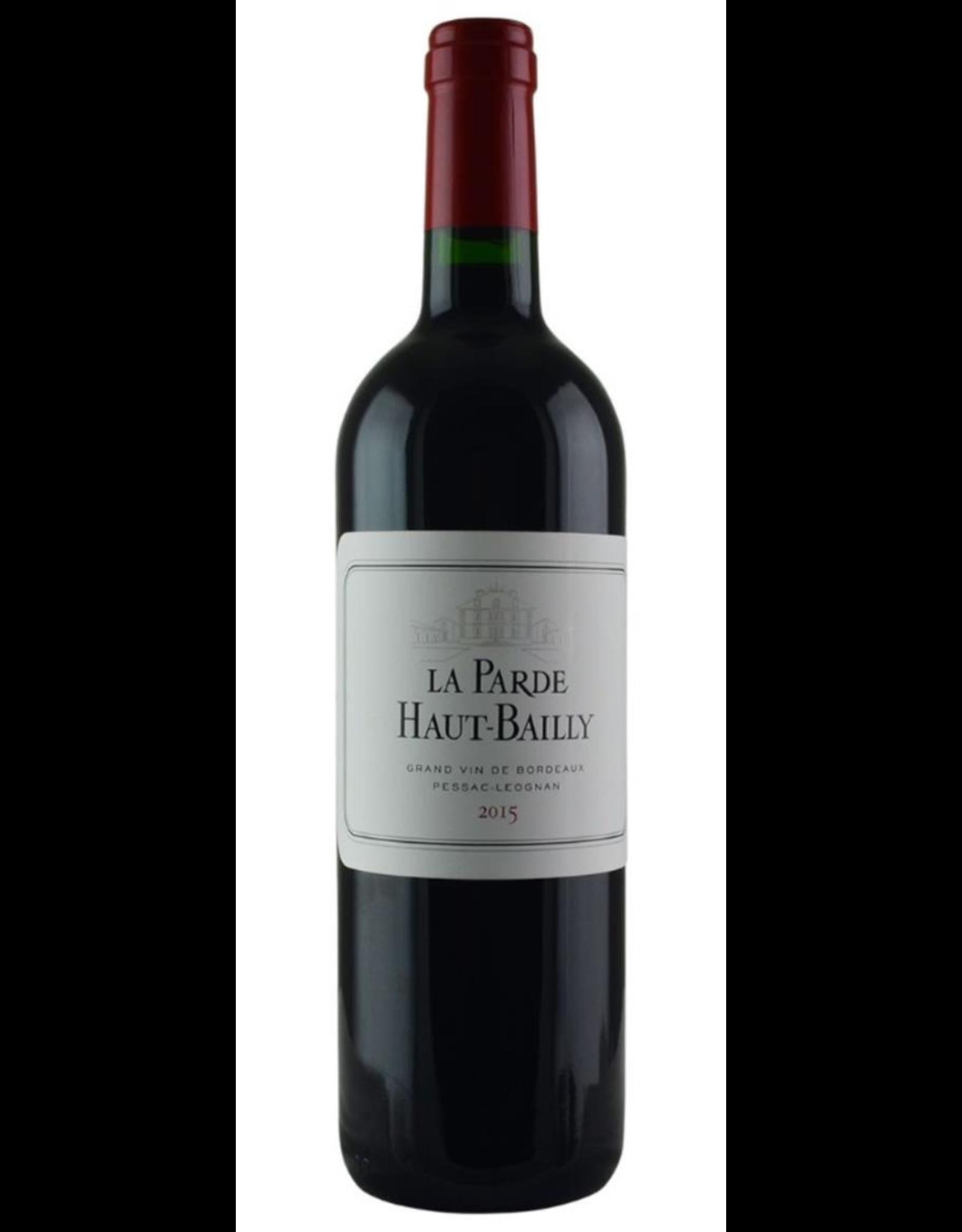 Red Wine 2015, Chateau Haut-Bailly 2nd, La Parde, Red Bordeaux Blend, Pessac-Leognan Gironde, Bordeaux, France, 14% Alc, CT88.6