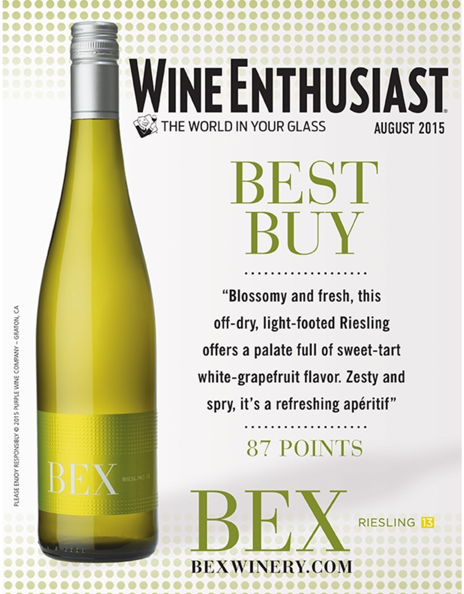 White Wine 2018, Bex, Reisling, Nahe, Nahe, Germany, % Alc, CT nr