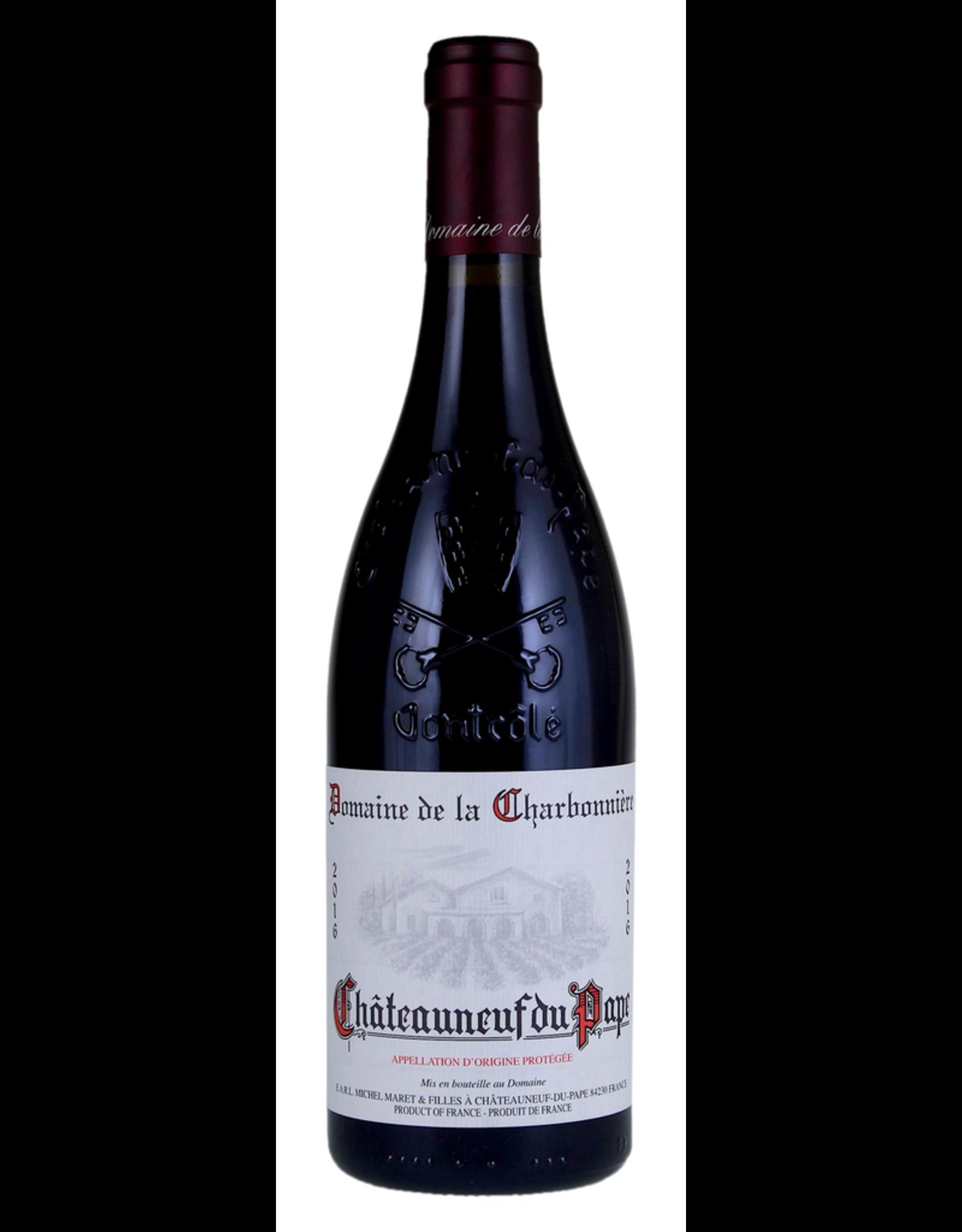 Red Wine 2016, Domaine de la Charbonniere Chateauneuf du Pape, Red Rhone Blend, Chateauneuf-Du-Pape, Southern Rhone, France, 15% Alc, CTnr
