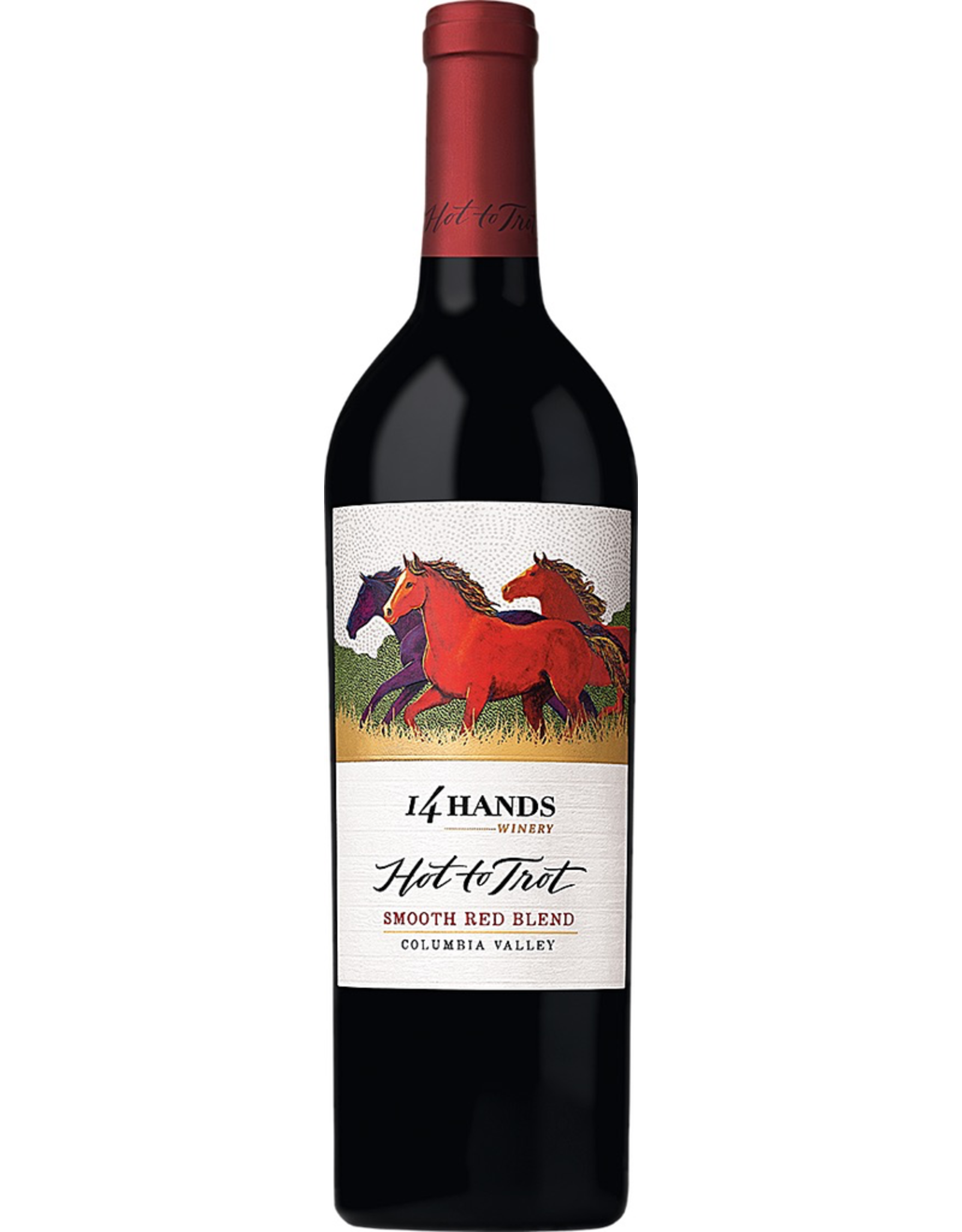 Red Wine 2016, 14 Hands Hot to Trot by Ste Michelle Wine Estates, Red Blend, Multi AVA, Columbia Valley, Washington, 13.5% Alc, CT 85