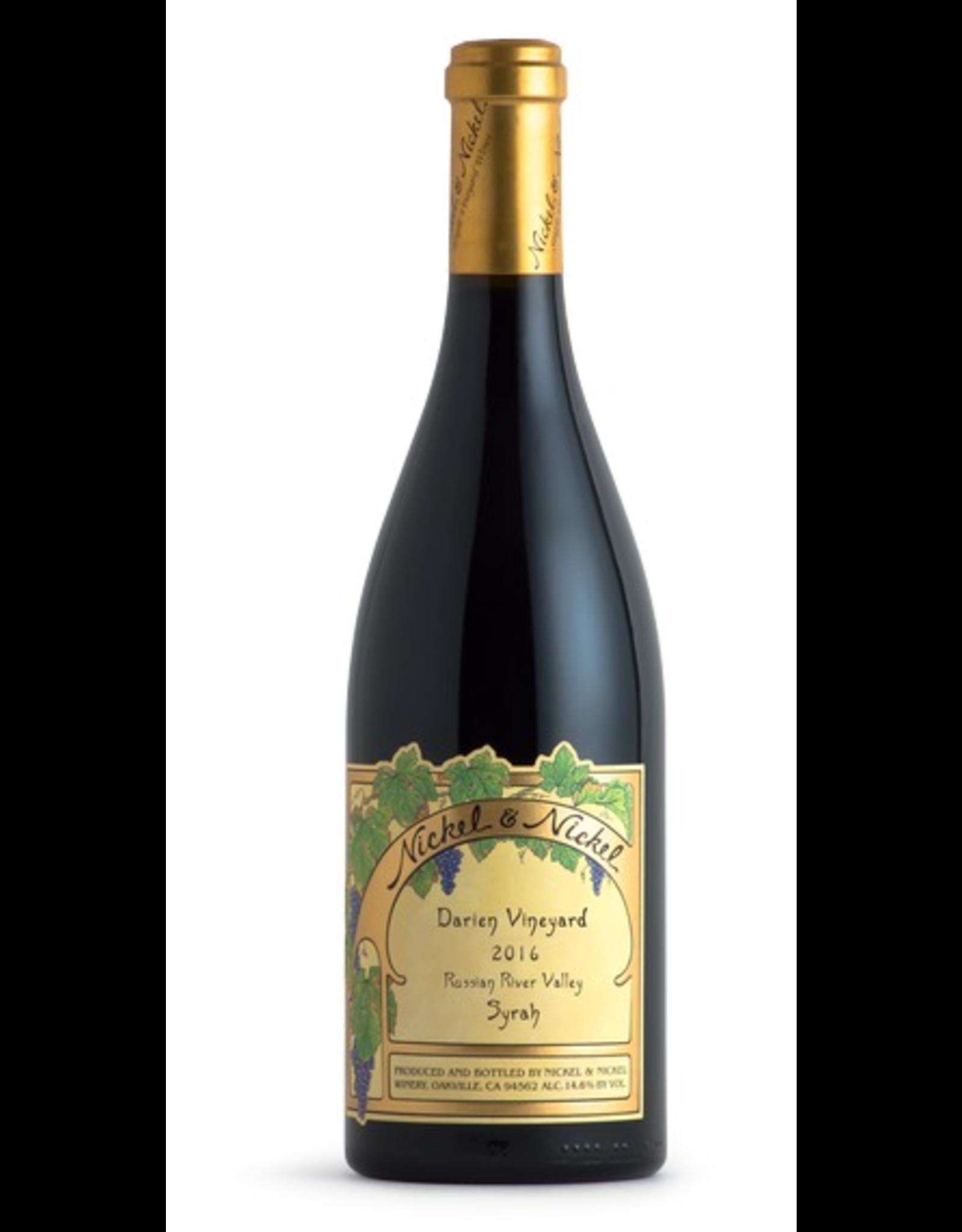 Red Wine 2016, Nickel & Nickel Darien Vineyard, Syrah, Russian River Valley, Sonoma County, California, 14.7% Alc, CT87.8