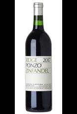 Red Wine 2018, Ridge Ponzo Vineyard, Zinfandel, Russian River Valley, Sonoma County, California, 14.6% Alc, CT91