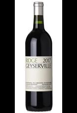 Red Wine 2017, Ridge Geyserville Vineyard, Red Blend, Alexander Vallley, Sonoma County, California, 14.5% Alc, CT91.6