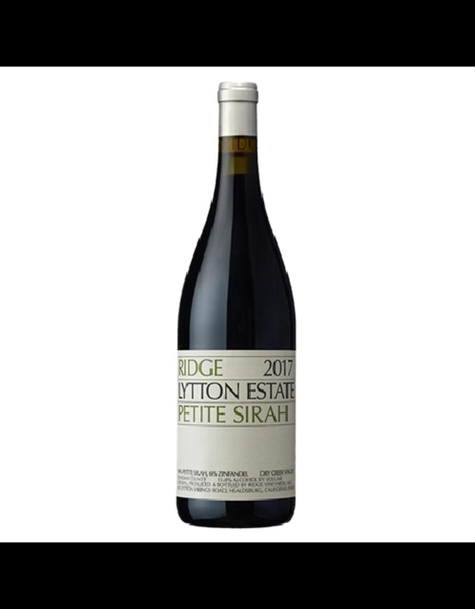 Red Wine 2017, Ridge Lytton Estate Vineyard, Petite Sirah, Dry Creek Valley, Sonoma County, California, 13.8% Alc, CT90