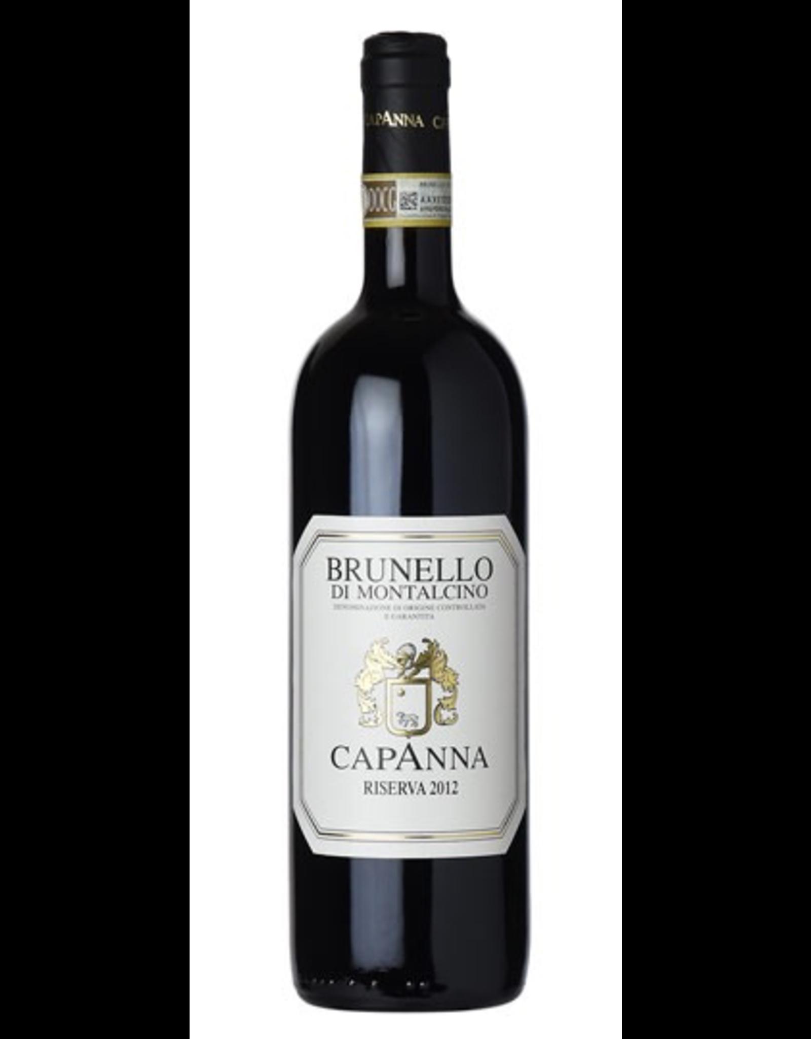 Red Wine 2012, Capanna Brunello di Montalcino Riserva, Sangiovese, Montalcino, Tuscany, Italy, 15.0% Alc, CT95