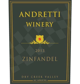 Red Wine 2013, Andretti Winery, Zinfandel