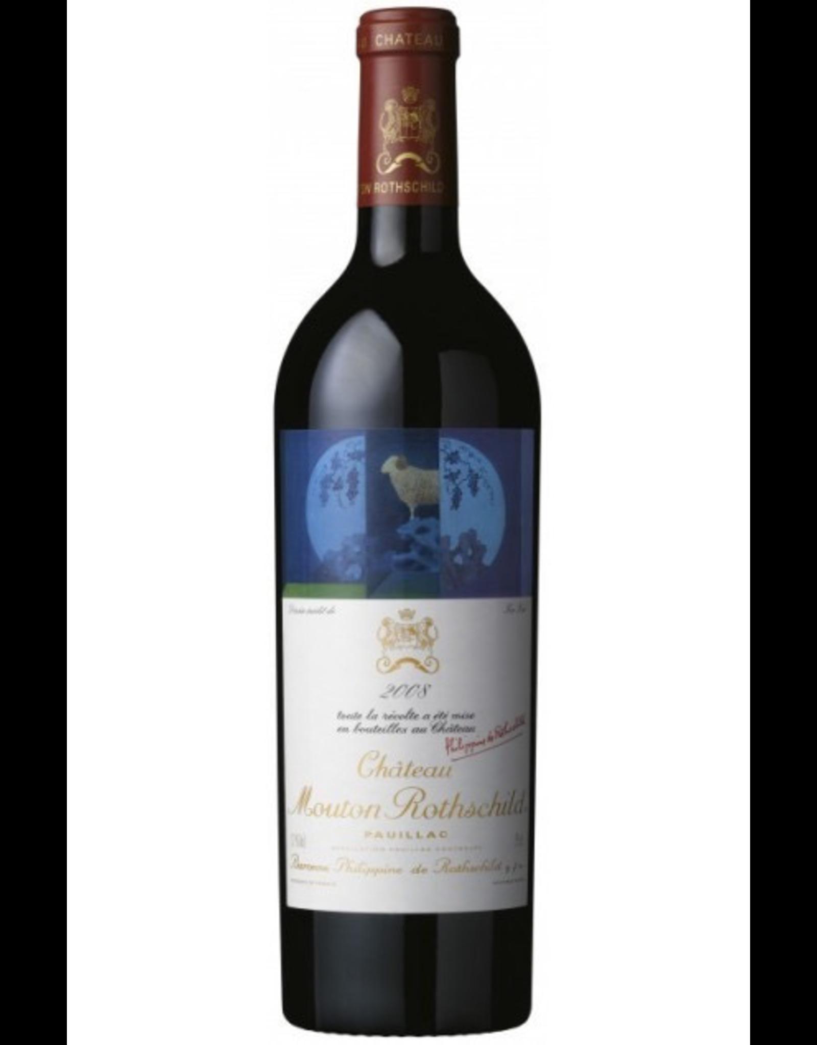 Red Wine 2008, Chateau Mouton-Rothschild 1st Growth, Red Bordeaux Blend, Pauillac, Bordeaux, France, 13.55% Alc, CT94.3