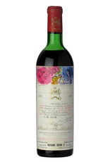 Red Wine 1970, Chateau Mouton-Rothschild 1st Growth, Red Bordeaux Blend, Pauillac, Bordeaux, France, 13.55% Alc, CT91.5