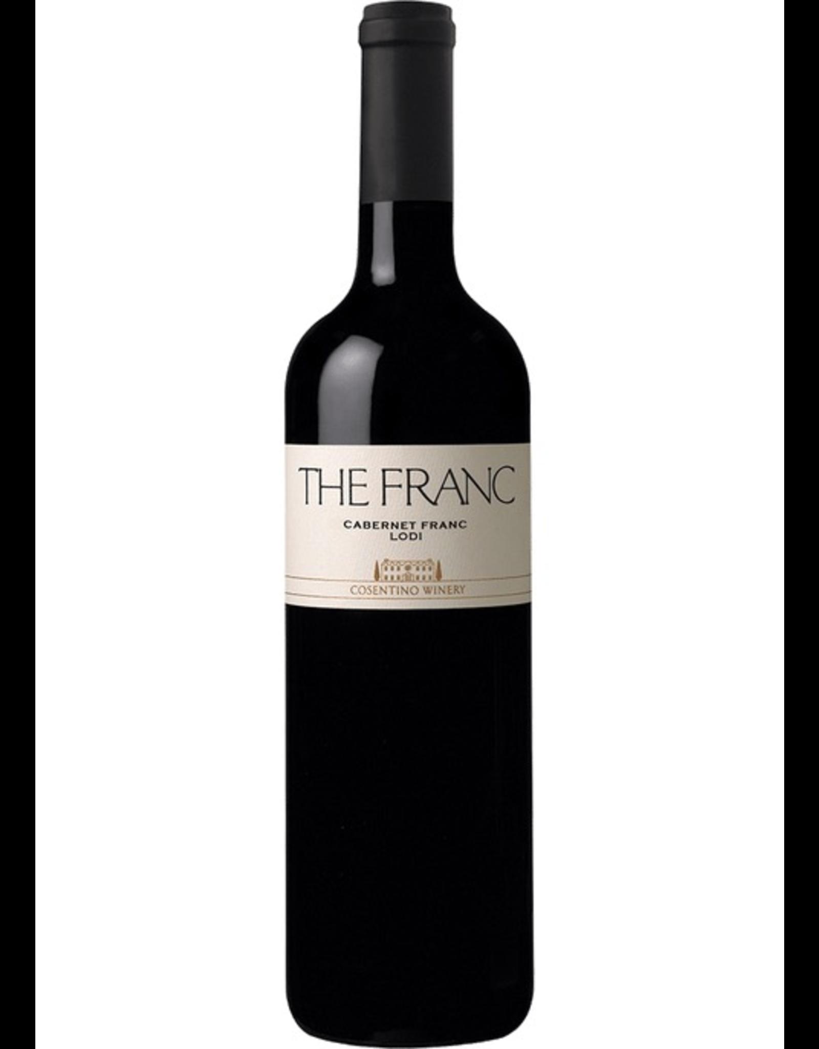 """Red Wine 2017, Cosentino Winery """"THE FRANC"""", Cabernet Franc, Lodi, California,  14.9% Alc, CT88"""