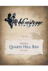 Red Wine 2013, Bluestone Vineyards Quartz Hill, Red Blend, Bridgewater, Shenandoah Valley, Virginia,13.0% Alc, CT87.4, TW93